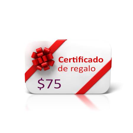 Certificado de regalo 75